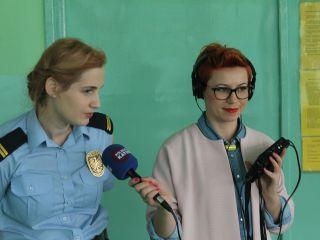 Straż miejska i Radio Katowice z wizytą u przedszkolaków