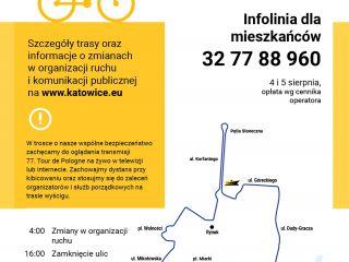 77. Tour de Pologne w Katowicach- informacje o zmianach w organizacji ruchu