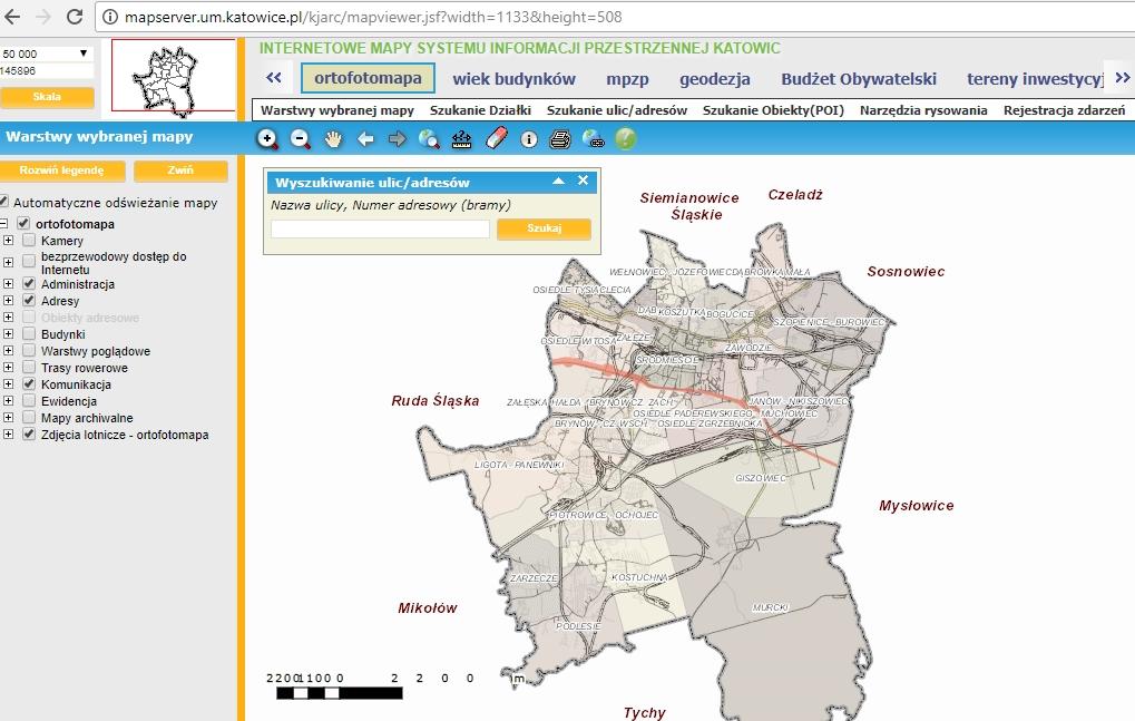 Zgłoszenie awarii serwis mapowy katowice